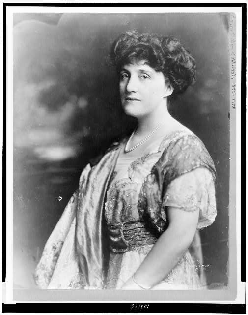 [Mary Roberts Rinehart, half-length portrait, standing, facing left]