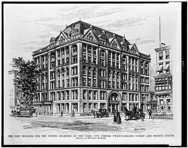 The New building for the United Charities of New York City, corner Twenty-Second Street and Fourth Avenue