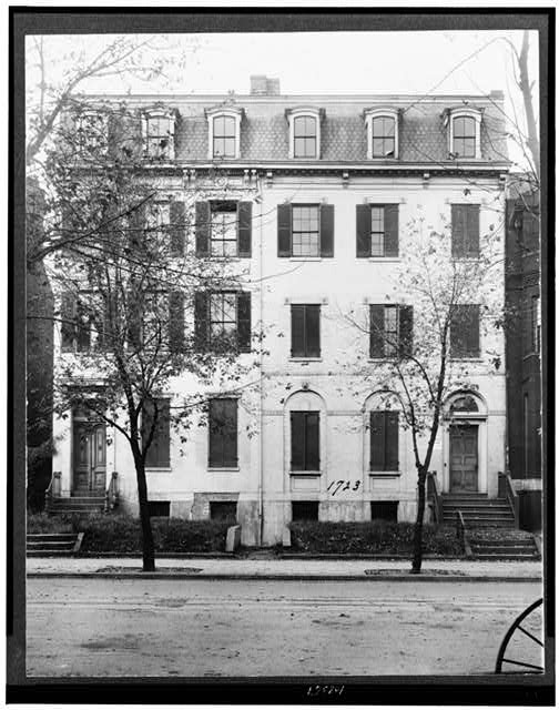 [Home of Jefferson Davis, at 1723 G. Street, Washington, D.C.]