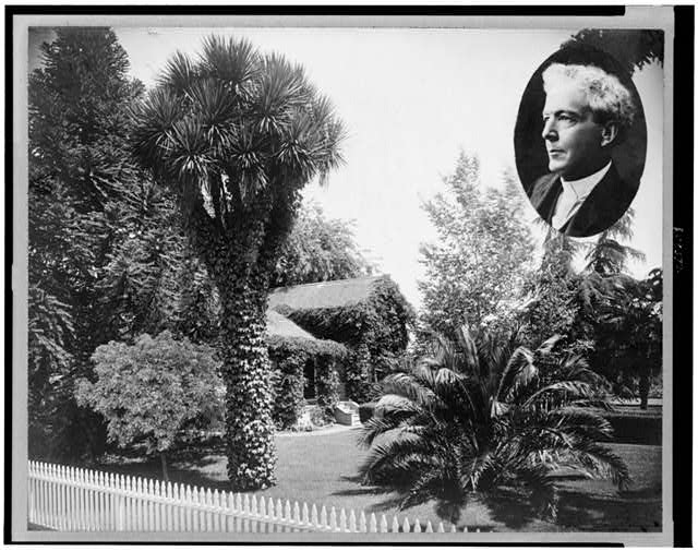 [Home of Luther Burbank, and insert of head-and-shoulders portrait of Luther Burbank]