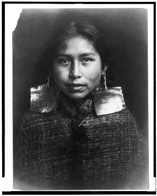 [Tsawatenok girl, head-and-shoulders portrait, facing front]