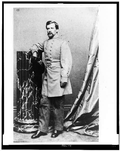 [Gen. John Pegram, full-length portrait, standing, facing left]