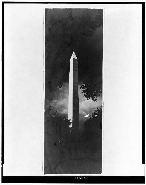 [Washington Monument at night]