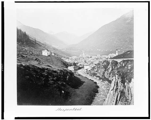 [Andermatt village in the Ursern Valley, Switzerland]