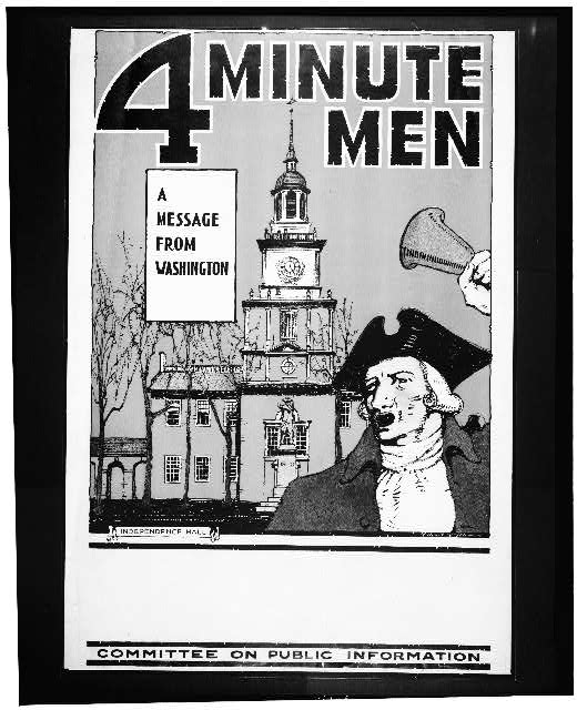 4 Minute men--A message from Washington
