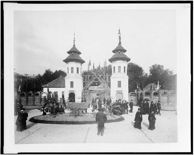 [Entrance to Javanese Village, Paris Exposition, 1889]