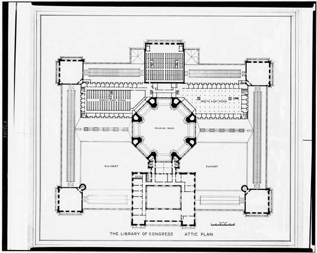 [Alterations to the Library of Congress Thomas Jefferson Building, Washington, D.C. Attic plan]