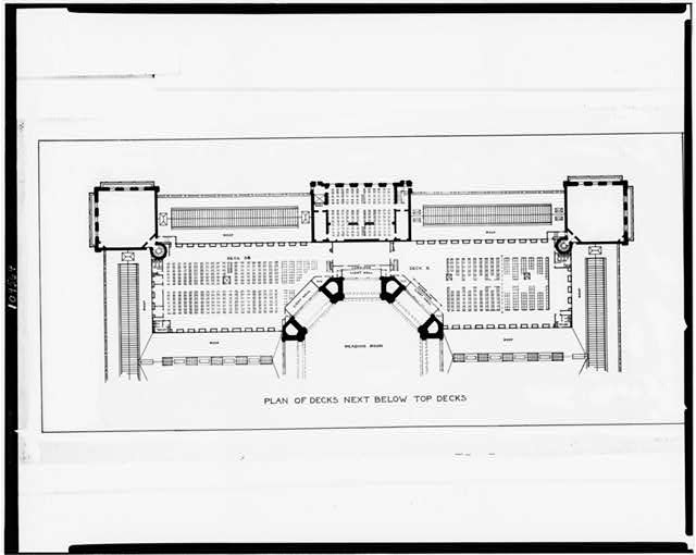 [Alterations to the Library of Congress Thomas Jefferson Building, Washington, D.C. Plan of decks below top decks]