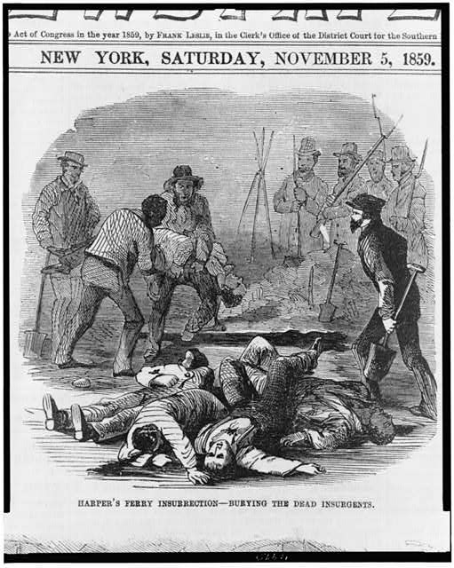 Harper's Ferry insurrection - burying the dead insurgents