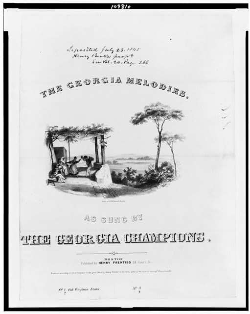 The Georgia melodies. As sung by the Georgia Champions