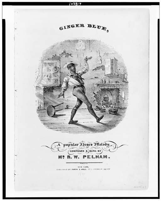 Ginger blue, a popular Negro melody, composed & sung by Mr. R.W. Pelham
