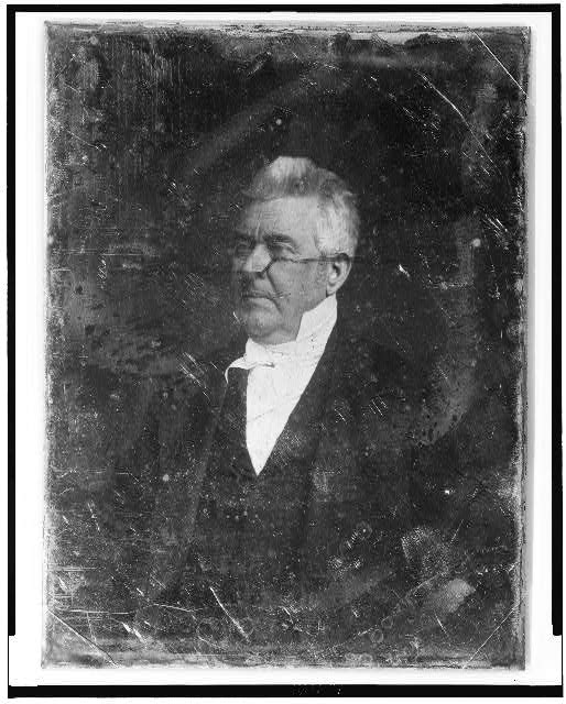 [John M. Clayton, half-length portrait, three-quarters to the left]