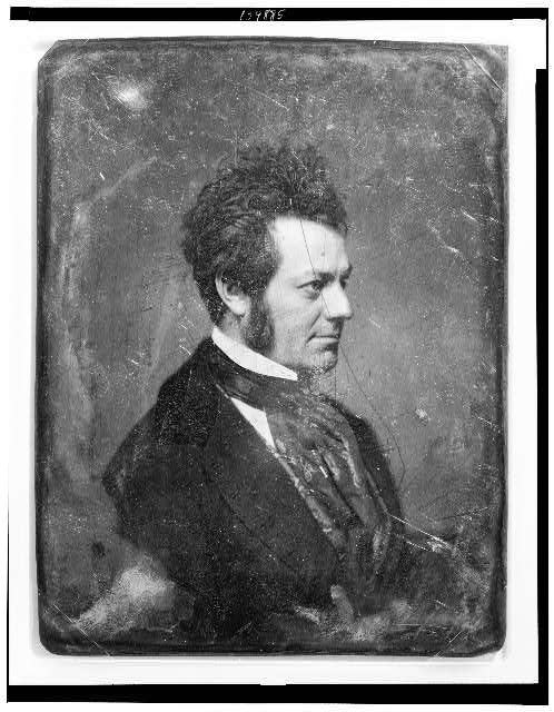 [Edwin Forrest, head-and-shoulders portrait, nearly in profile to the right, with side whiskers]