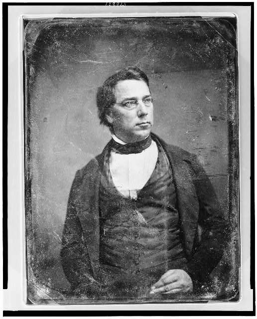 [George Perkins Marsh, half-length portrait, head three-quarters to right, with spectacles]