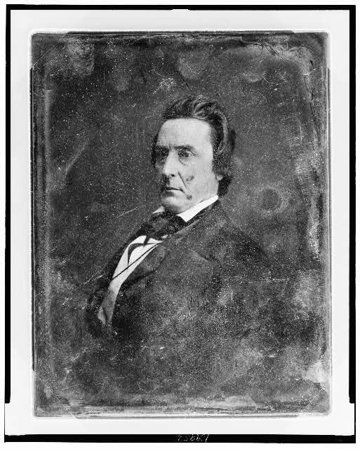 [David Rice Atchison, half-length portrait, facing three-quarters to left]