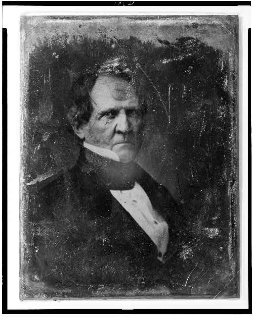 [Winfield Scott, head-and-shoulders portrait, head three-quarters to the right, eyes front, in civilian dress]
