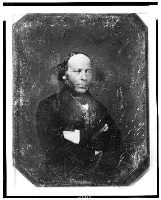 [Edward John Phelps, half-length portrait, three-quarters to the right, arms folded]