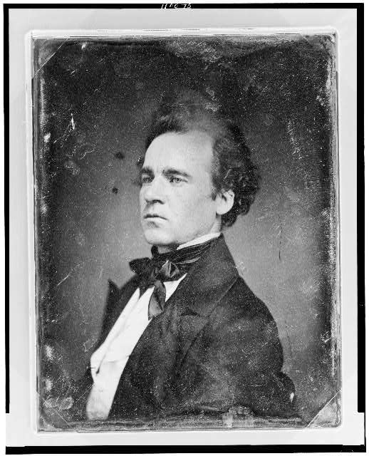 [Unidentified man, about 25 years of age, head-and-shoulders portrait, nearly in profile, the head three-quarters to the left]