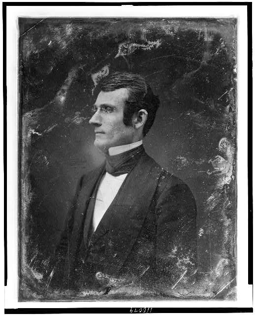[Unidentified man, about 30 years of age, half-length portrait, nearly in profile to the left]