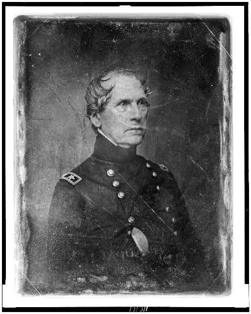 [John Ellis Wool, half-length portrait, three-quarters to the right, in military uniform, hand in coat]