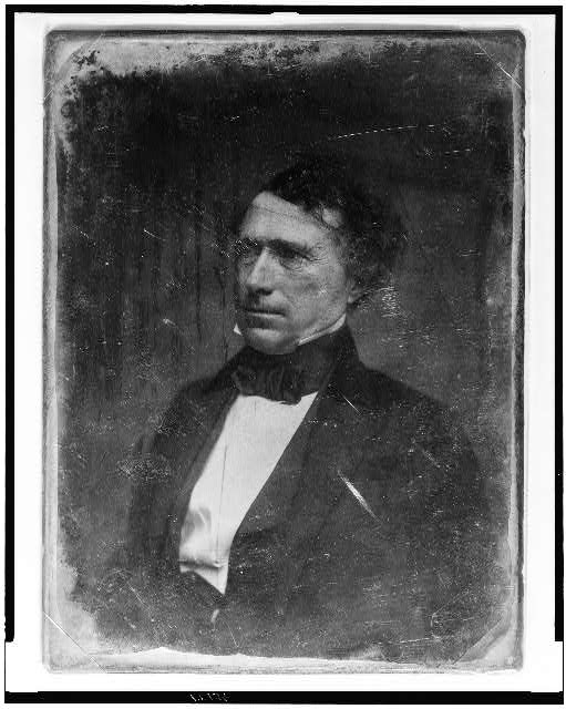 [Franklin Pierce, head-and-shoulders portrait, three-quarters to the left]