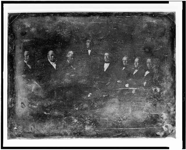 [Zachary Taylor and his cabinet, all seated except President Taylor]