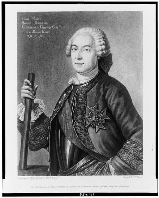 [Pierre de Rigaud, Marquis de Vaudreuil, half-length portrait, facing left]