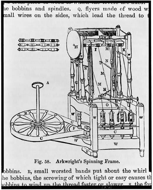 [Detailed design for a large thread spinning machine]