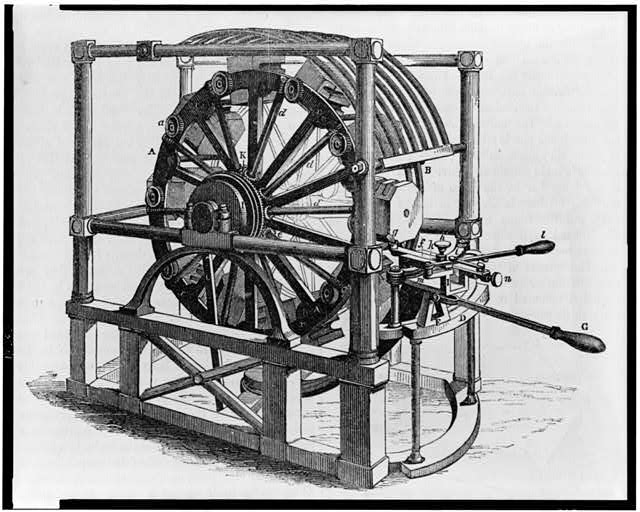 [Block making machine that produced wooden blocks for block and tackle, primarily for the ship industry]