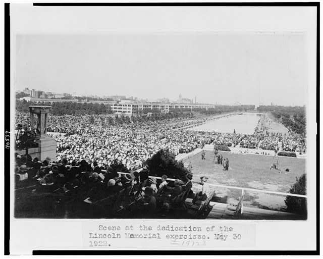 Scene at the dedication of the Lincoln Memorial exercises