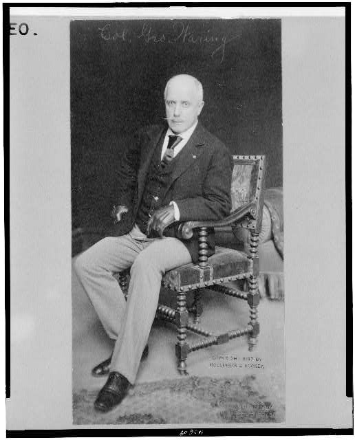 [Col. George E. Waring, full-length portrait, seated, facing slightly left]