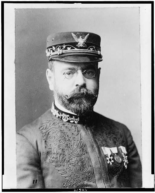 [John Philip Sousa, head-and-shoulders portrait, facing slightly right]
