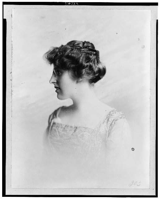 [Margaret Wilson, head-and-shoulders portrait, facing left]