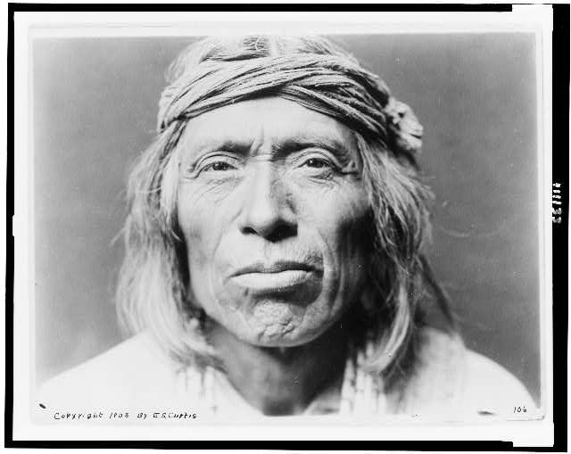 [Head-and-shoulders portrait of Shiwawatiwa, a Zuni Indian, facing front]