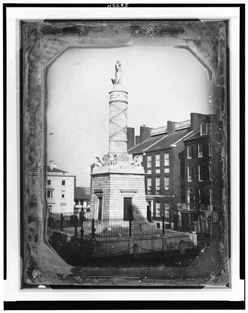 [Monument commemorating the Battle of North Point, Calvert Street and Fayette Street, Baltimore, Maryland]