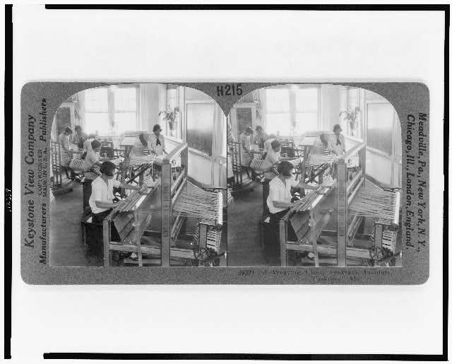 A weaving class, Tuskegee Institute, Tuskegee, Ala.