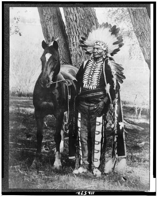 Photograph of Chief Ignacio and his horse