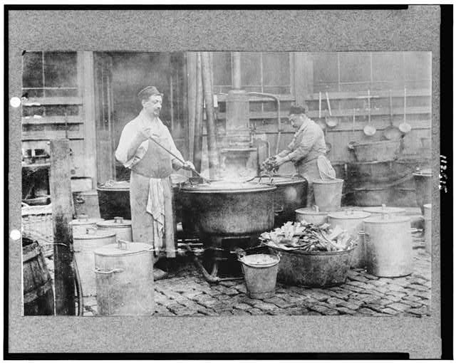 Belgium relief--The municipal soup kitchen