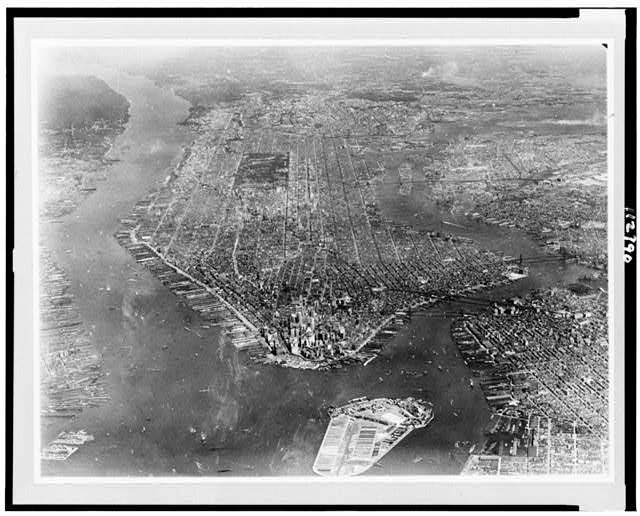[View of New York City from two miles in the air]