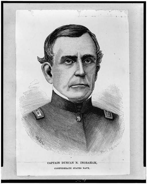 [Captain Duncan N. Ingraham, Confederate States Navy, bust portrait, facing front]