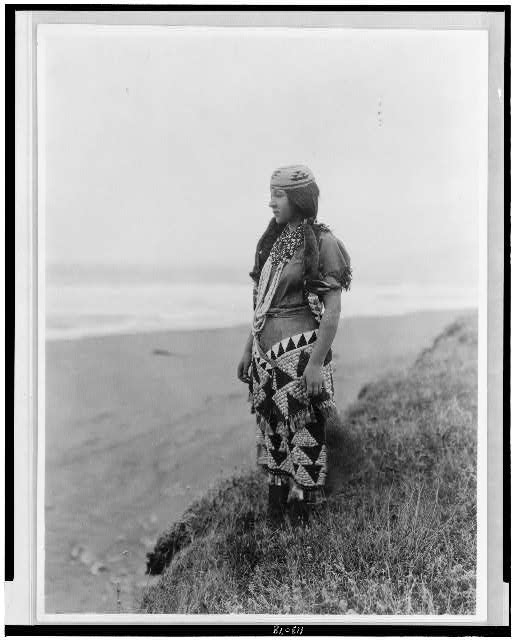 Woman's primitive dress--Tolowa