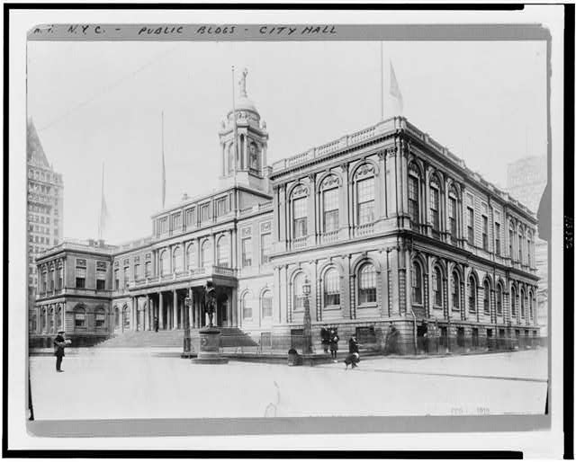 [Exterior of City Hall, New York City]