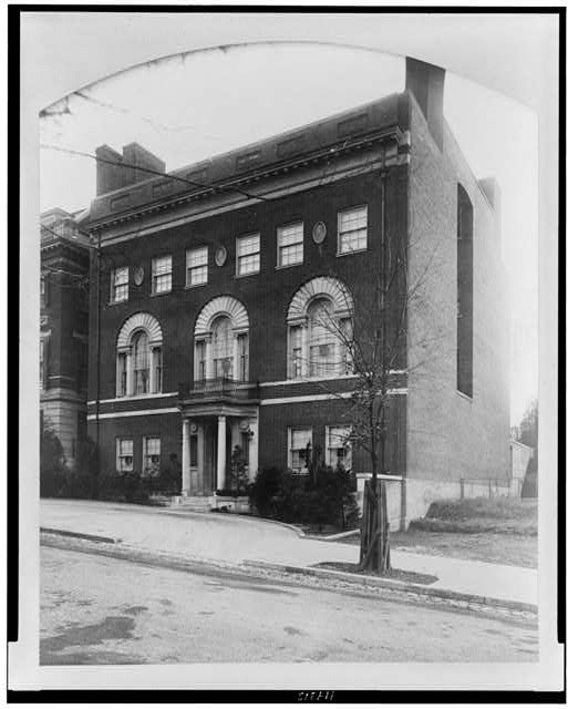 The Wilson house at 2340 S Street, N.W., Washington, D.C., ca. 1921