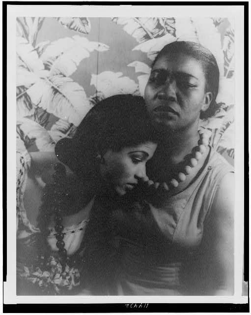 "[Portrait of Maudelle Bass, and Lewayne Kennard (Lewaung Connard) ""Black Ritual""]"