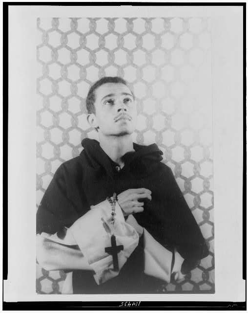 [Portrait of Edward Atkinson, as Saint Martin de Porres, an early South American Negro Saint]