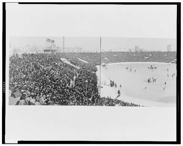 """View of the """"Dynamo"""" Stadium at the time of the competition"""