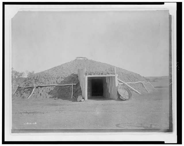 Mandan earthen lodge