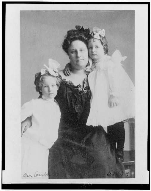 [Mrs. Crabbe with two girls]