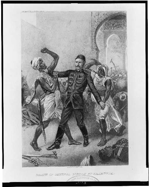 Death of General Gordon at Khartoum