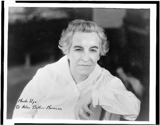 [Maude Slye, head-and-shoulders portrait, facing front]